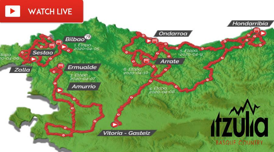 LIVE STREAM Tour the Basque 2021