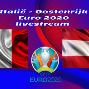 EK Voetbal live stream Italië - Oostenrijk