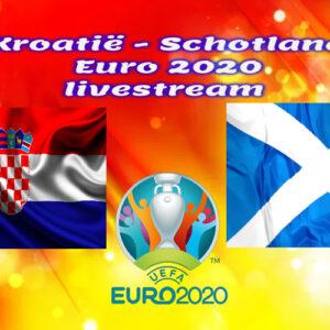 EK Voetbal live stream Kroatië - Schotland