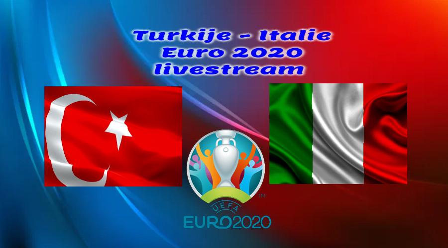 EK Voetbal live stream Turkije - Italië