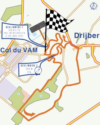 Parcours NK Wielrennen 2021