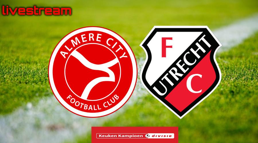 Gratis live stream Almere City FC - Jong FC Utrecht