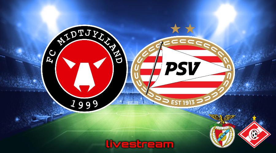 Gratis live stream FC Midtjylland - PSV