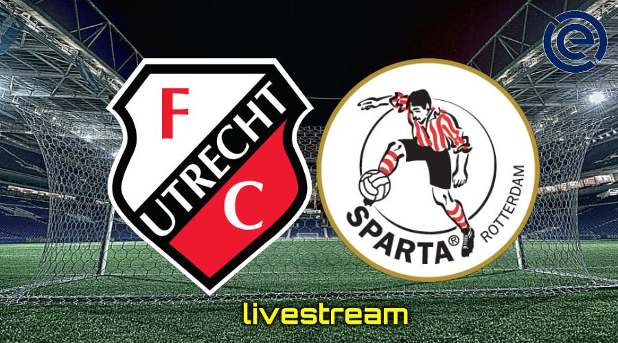 Gratis live stream FC Utrecht - Sparta Rotterdam