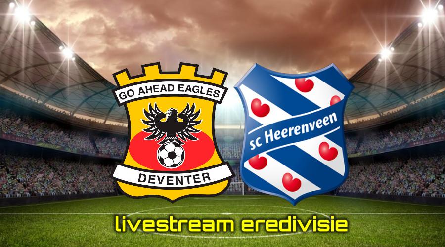 Gratis live stream Go Ahead Eagles - SC Heerenveen