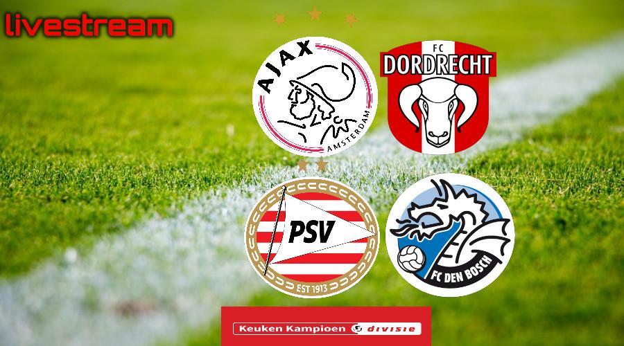 Gratis live stream Jong Ajax - FC Dordrecht en Jong PSV - FC Den Bosch