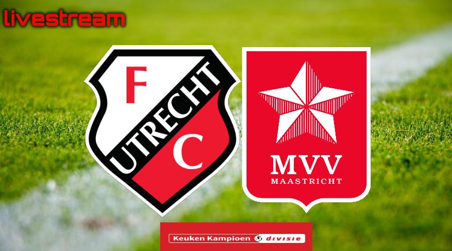 Gratis live stream Jong FC Utrecht - MVV Maastricht