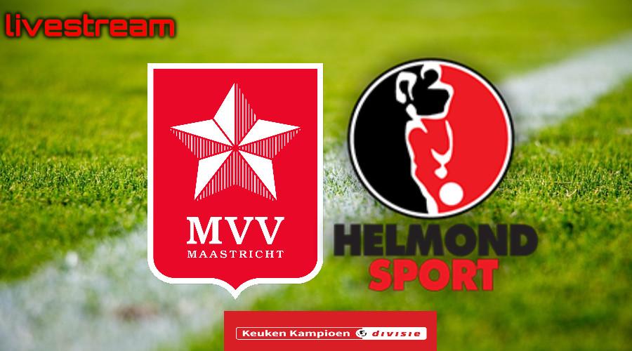 Gratis live stream MVV Maastricht - Helmond Sport