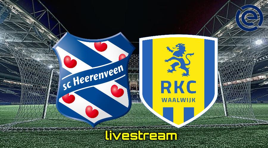 Gratis live stream SC Heerenveen - RKC Waalwijk