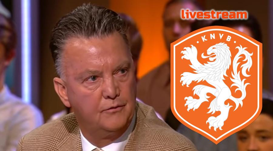 Live stream persconferentie Louis van Gaal