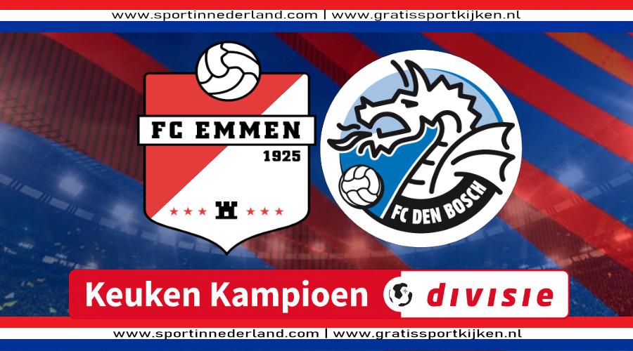 FC Emmen - FC Den Bosch gratis livestream