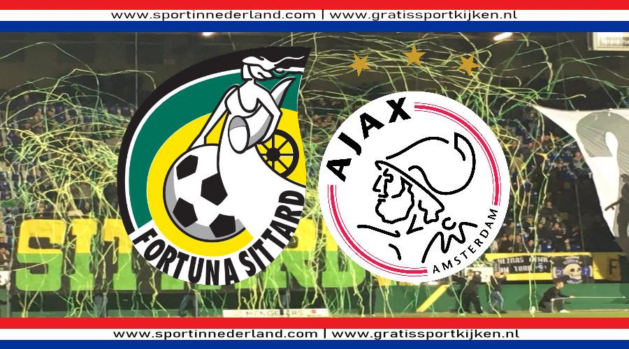 Fortuna Sittard - Ajax gratis live kijken via een livestream