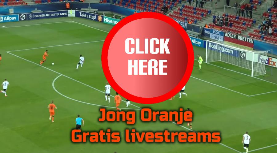 Jong Oranje kijken via de Gratis Sport Kijken live stream