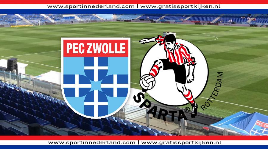 PEC Zwolle - Sparta kijken via een gratis livestream