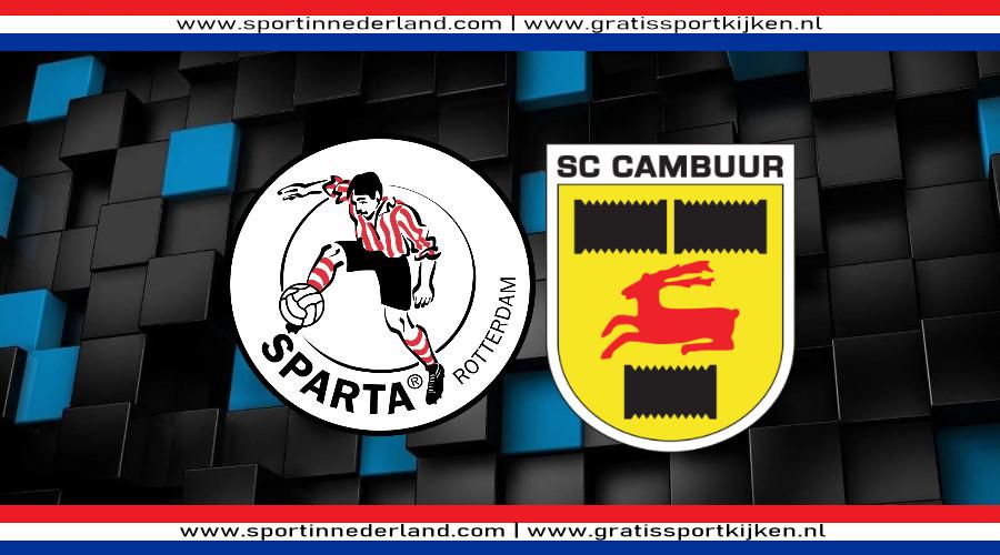 Sparta - Cambuur gratis livestream