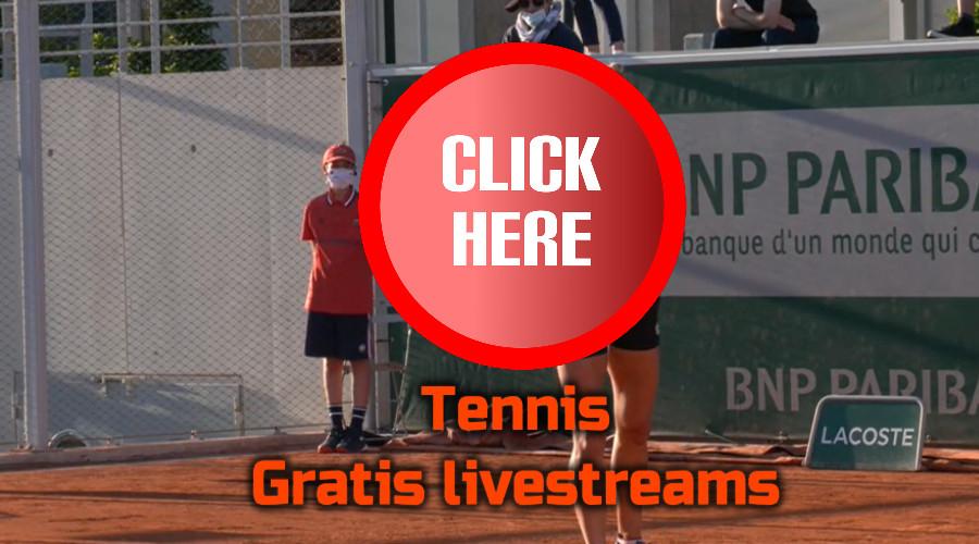 Tennis kijken via de Gratis Sport Kijken live stream